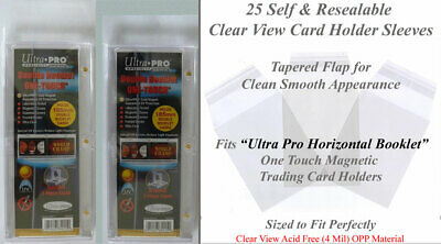 50 Perfect Fit Card Holder Sleeves Fits Ultra-Pro (H) 185PT Double Booklet Mags