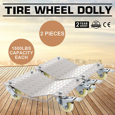 2pcs TIRE MOVER WHEEL DOLLIES DOLLY SKATE VEHICLE CAR HEAVY DUTY SLIDE CASTORS