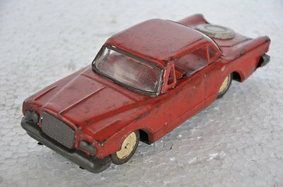 Vintage Friction Red Litho Car Tin Toy , Collectible