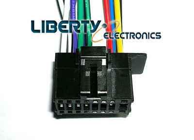 new 16 pin wire plug harness for pioneer deh-p6200bt / deh-p6200