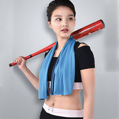 Beroyal Outdoor Sports Summer Instant Ice Cooling Towel for Gym Golf Yoga Blue