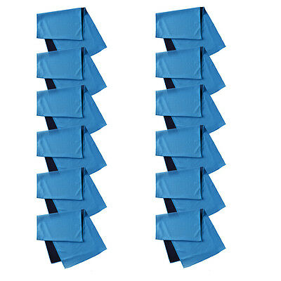 Dozen 12X Outdoor Sports Summer Instant Ice Cooling Towel for Gym Golf Yoga Blue