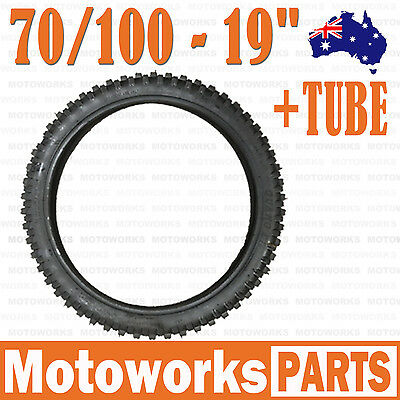 "70/100 - 19"" inch Front Knobby Tyre Tire + Tube PIT PRO BIGFOOT Trail Dirt Bike"