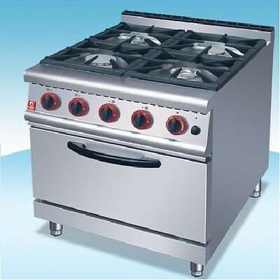 Commercial 4 Burner Cooker With Oven