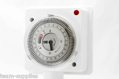 Mechanical Timer Clock 24 hour Timeswitch Lighting Immersion Heating Security