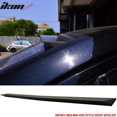 For 03-04 Infiniti M35 M45 2nd VRS Style Roof Spoiler Wing Unpainted - PUF