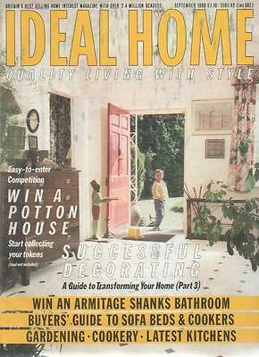 IDEAL HOME MAGAZINE September 1988 Gardening Cookery Latest Kitchens AL