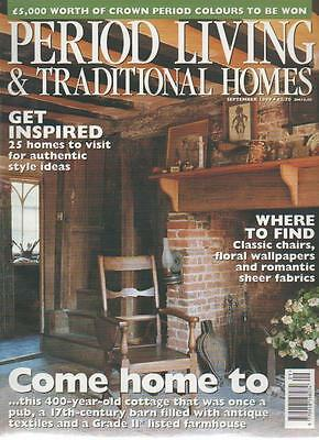 PERIOD LIVING & TRADITIONAL HOMES MAGAZINE September 1999 Get Inspired AL