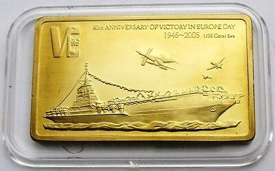 MALAWI 5 KWACHA 2005 SHIP USS CORAL SEA AIRCRAFT CARRIER 45x27.5mm UNC IN BOX