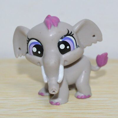 Hasbro Littlest Pet Shop Collection LPS Figure Loose Toy Animals Gray Elephant