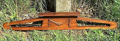 Antique Gorgeous Wooden Oak Pediment Overdoor Guirlande Architectural