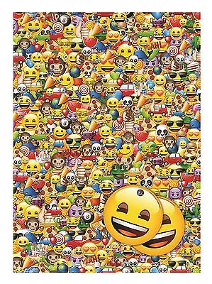 Emoji | Smiling Face | Emotions 2 Sheets of Giftwrap | Paper | 2 Gift Tags