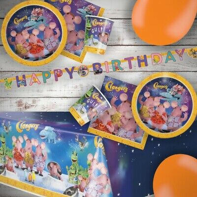 Clangers | The Soup Dragon | Froglets 2 Sheets of Giftwrap | Paper | 2 Gift Tags