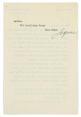 Sigmund Freud - Typed Letter Signed 05/11/1924