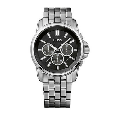 Hugo Boss 1513046 Men's Chronograph Stainless Steel Strap Black Dial Watch