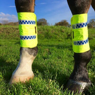 POLITE LEG BOOTS - Safety on the Roads - Hi Viz  ** MUST HAVE ITEM - FREE P&P **