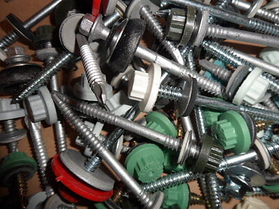 10 Kilos, Assorted Self Drilling Screws, Various Colours, Types and Lengths etc.