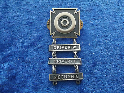 (A28-27) US Driver and Mechanic Badge 3 Stufen W/T/mech