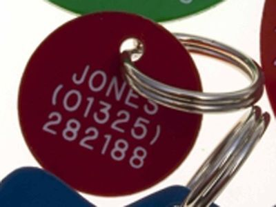 Quality Engraved Pet tag - mini acrylic circle 20mm