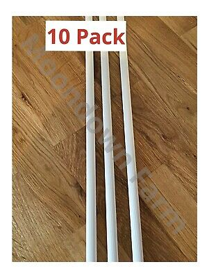 10 x Plastic Perch 12mm Lengths 1m For Finches, Canaries, Budgies, Parrot