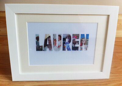 Personalised Name in Photographs Print