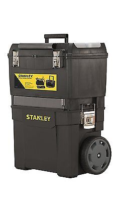 Stanley 193968 Mobile Work Center Quality Mobile Storage Garage Tool Box NEW