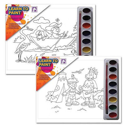 Childrens Paint Palette Set (Learn to Paint Set Brush & Activity Paint Your Own)