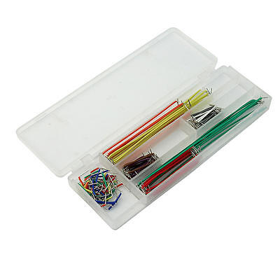140 Pcs Solderless Copper Bread Board Jumper Soft Cable Wires for Arduino DIY