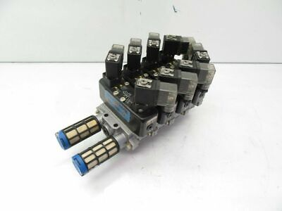 54191027 Asco and VDMA 24 345 C1 VDMA24345C1 Festo Manifold Assembly Used Tested