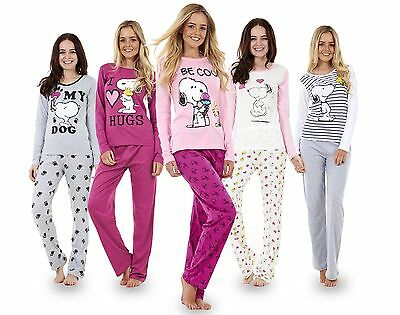 Ladies Long Sleeve Snoopy Pyjama Set Mickey Minnie Mouse PJ's Nightwear REDUCED!