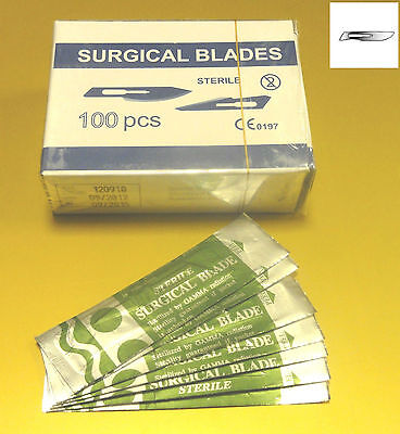 Scalpel Gamma Sterilized Surgical Blades Size 20 Chiropody Surgery100 Pcs