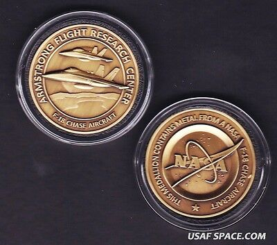 NEW F-18 -ARMSTRONG NASA DRYDEN FLOWN F-18 Aircraft Metal COIN-MEDALLION USAF