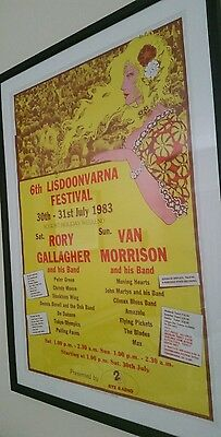 Rare Lisdoonvarna poster Van Morisson Rory Gallagher