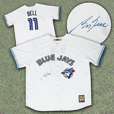 George Bell Toronto Blue Jays Autographed Majestic Retro MLB Baseball Jersey