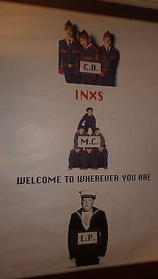 """40x60"""" HUGE SUBWAY POSTER~INXS 1992 Welcome To Wherever You Are Album CD/MC/LP~"""