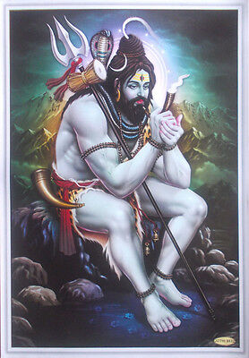 "LORD SHIVA Relaxing at Kailash - Unique POSTER - Big Size: 20""x30"""