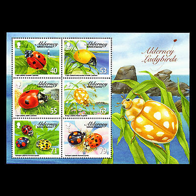 """Alderney 2014 - Fauna """"Ladybirds"""" Insects - Sc 489a MNH"""