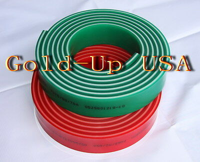"Screen Printing Squeegee Triple 50mm x 9mm x72"" / Roll 70x90x70 Duro"