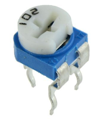 6mm Cermet Horizontal Variable Trimmer Potentiometer Pot 100R to 100K