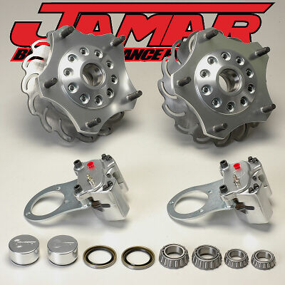 Jamar Performance Front Disc Brake Kit For Combo Link Spindles - Sandrail Parts