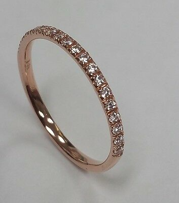 0.19ct 14K Rose Gold Bridal Wedding Band with Diamonds