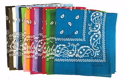 Cotton Head Wrap Bandana Paisley Biker Scarf Summer Headwrap Mask Durag Bandanna