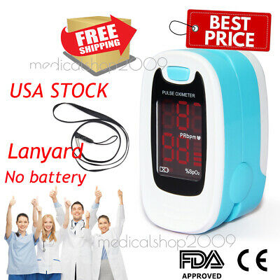 FDA Finger Fingertip Pulse Oximeter Blood Oxygen SPO2 Pulse Heart Rate Monitor