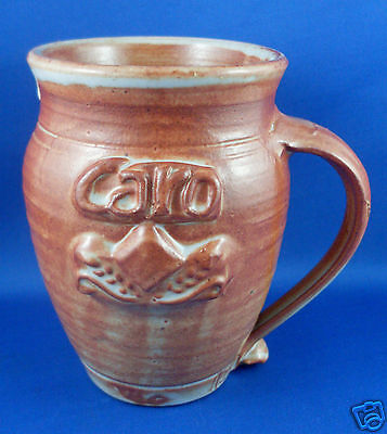 Signed IAN LAMB Handcrafted CARO Australian Pottery Mug RARE RETRO Collectable
