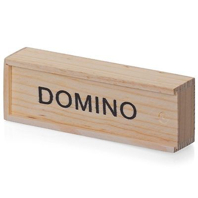 Kids Wooden Box Dominoes Set Toy Traditional Classic Children 28 Domino Kids Fun