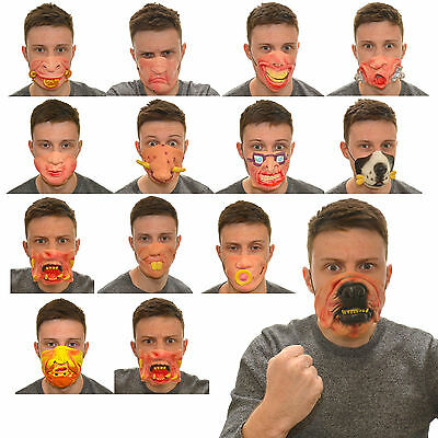 Fancy Dress Half Face Rubber Latex Mask Funny Halloween Party Accessories