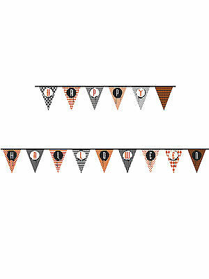 14ft Happy Halloween Paper Flag Banner Bunting Party Decoration