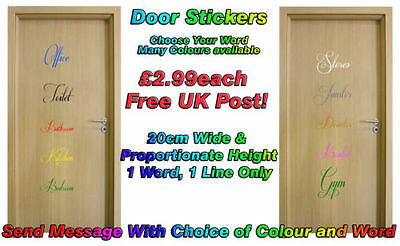Door Sticker Decal Office Toilet, Private, Bedroom, Bathroom, Manager, Exit sign
