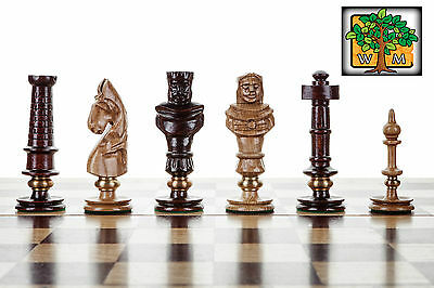 ROYAL LUX OAK - Large 65cm / 25.6in Beautiful Handcrafted Wooden Chess Set