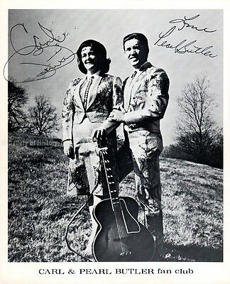 Carl Butler - Photograph Signed Co-Signed By: Pearl Butler